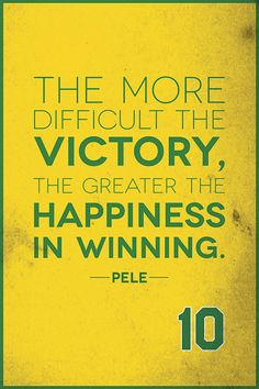 Pele quote. Check out quotes by famous athletes in prints > www.finesportsprints.com  #sports #quotes #prints