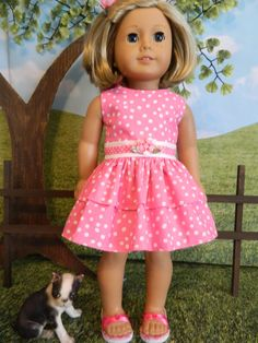 American Girl doll clothes summer dress and jacket by SewCuteJune