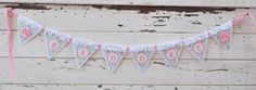 Blue Floral Name Banner with Flowers by CardsandMoorebyTerri, $24.50