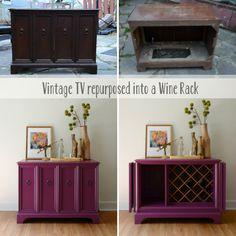 Repurposed Tv Cabinet Becomes A Wine Rack Named U0027Opheliau0027   Estuary Designs