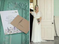 wildflower wedding invitation