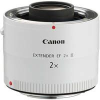 This is a great addition to the 70-200 zoom or any of the white canon lenses (it wont fit on any lens that isn't white) Canon 2x EF Extender III (Teleconverter)