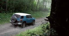 FJ Cruiser shown in Cavalry Blue with available Upgrade Package. 2011 model shown.