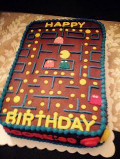 Pac Man game board cake