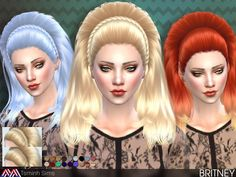 The Sims Resource: Britney hair by TsmnihSims  - Sims 4 Hairs - http://sims4hairs.com/the-sims-resource-britney-hair-by-tsmnihsims/