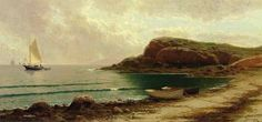 Seascape with Dories and Sailboats : Alfred Thompson Bricher : Museum Art Images Canvas Art For Sale, Canvas Art Prints, Oil Painting For Sale, Oil Painting Abstract, Paintings Famous, Oil Paintings, Boat Art, Oil Painting Flowers, Oil Painting Reproductions