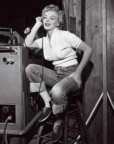 Marilyn Monroe boyish look