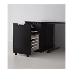 GALANT Módulo almacenaje p/impresora - negro-marrón - IKEA