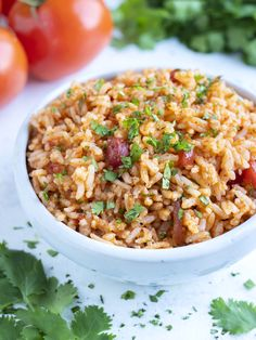 Mexican Rice Recipe With Salsa, Mexican Rice Recipes, Salsa Recipe, Mexican Dinners, Healthy Side Dishes, Side Dishes Easy, Side Dish Recipes, Healthy Dinner Recipes, Healthy Sides