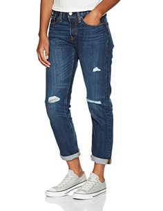 75bdc1fc Levi's Women's 501 Tapered Amazon Exclusive Boyfriend Jeans: Amazon.co.uk:  Clothing