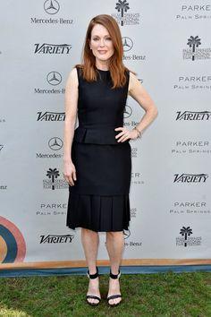 Julianne Moore Little Black Dress - Julianne Moore Looks - StyleBistro