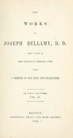 Volume 2 -The works of Joseph Bellamy