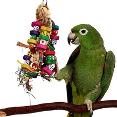Odds On - Beak Pleaser Parrot Toy Woven hanging toy with parts to chew.
