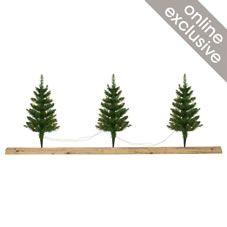 Festive Pre Lit Pathfinder Christmas Trees 3pk
