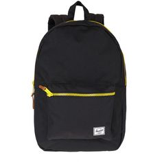 Herschel Supply Black Contrast Zip Settlement Backpack $100