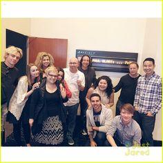 It's Austin & Ally! Stars Ross Lynch, Laura Marano, Raini Rodriguez, Calum Worthy
