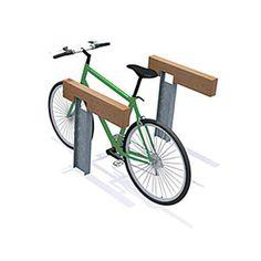 Wooden bike rack / original design - ROUGH&READY - Streetlife