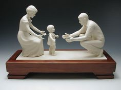 In the Family Circle- Porcelain Moments  #Florence Hansen  #LDS #Mother #Child #Father