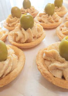 Tartaletas con crema de anchoas