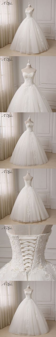ADLN Real Pictures Ball Gown Bridal Dress 2017 Vintage Applique Plus Size Wedding Dress Princess Floor Length Lace-up