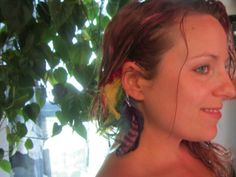 Unlimited Feather Ear Cuff Rainbow OOAK by infinefeathers on Etsy, $19.99