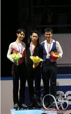With Yuzuru Hanyu(JAPAN) and Patrick Chan(Canada) : ISU Grand Prix of Figure Skating Final 2012