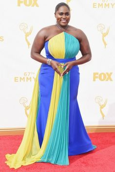 Danielle Brooks looks stunning at the #emmys