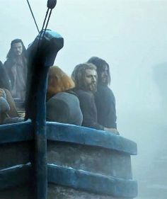 Fili and Kili in Bard's boat