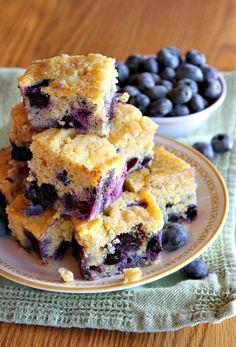 Blueberry Cornbread #blueberry #cornbread #comfortfood