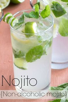 Treat yourself to a nojito- a non-alcoholic mojito. Treat yourself to a nojito- a non-alcoholic mojito! Use agave to make this sugar-free as well. Nojitos are a great alternative to lemonade and perfect for pregnant or nursing moms too. Refreshing Drinks, Fun Drinks, Mixed Drinks, Hard Drinks, Non Alcoholic Mojito, Non Alcoholic Drinks Healthy, Mojito Mocktail, Mint Julep Recipe Non Alcoholic, Sangria Recipes