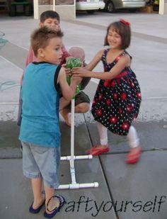 PVC Rocket Launcher Kids having fun