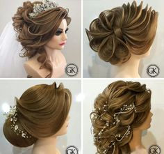 Party Hairstyles, Messy Hairstyles, Wedding Hairstyles, Love Hair, Gorgeous Hair, Updo Styles, Short Hair Styles, Lace Front, Elegant Wedding Hair