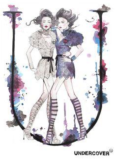 Natalia Jhete Watercolor fashion illustration inspiration