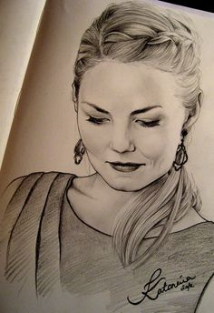 Amazing sketch of Jennifer Morrison (Emma Swan)