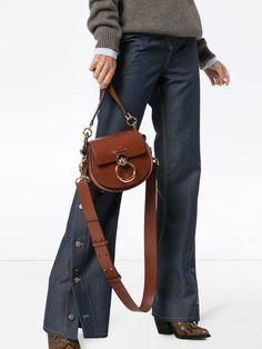 c083568f0ac Chloé Brown Tess Leather Shoulder Bag - Farfetch
