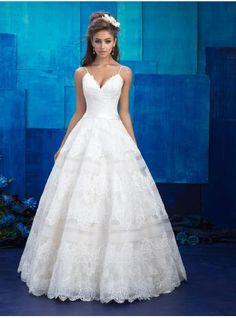 A-linie V-ausschnitt Ausgefallene Brautkleider aus Spitze