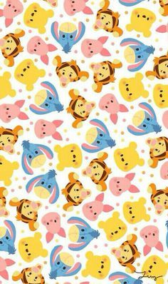 iPhone 5,6 Wallpaper - Winnie the Pooh, Tigger, Piglet, Eeyore