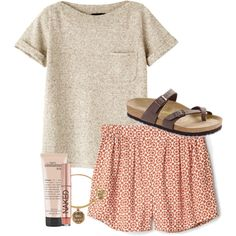 Summer Outfit by simply-grace on Polyvore featuring mode, A.P.C., Birkenstock, Alex and Ani, Urban Decay and philosophy
