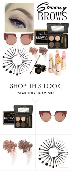 """brows"" by martyswordrobe ❤ liked on Polyvore featuring beauty, Too Faced Cosmetics, Marni, NARS Cosmetics, BeautyTrend, strongbrows and boldeyebrows"