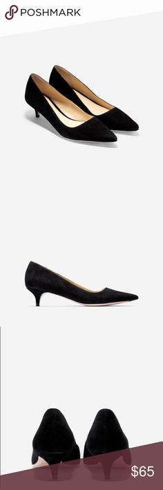 """Cole Haan Pointy Toe Bradshaw Pump Cole Haan Pointy Toe Bradshaw Pump.  Soft suede calf upper.  Fully leather lined. grand OS technology.  Suede buffed outside.  1.5"""" heel.  Some wear on Pointy Toe Suede as well as kitty heel- overall good condition- lots of life left. Cole Haan Shoes Heels"""