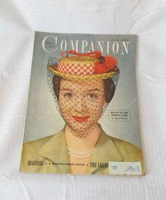 April 1950 Woman's Home Companion Vintage Hat by MyVintageHatShop