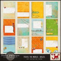 Travel the World :: Brazil :: 3x4 journaling cards