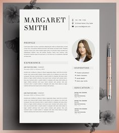 Resume Template, CV Template Editable in MS Word and Pages, Instant Digital…