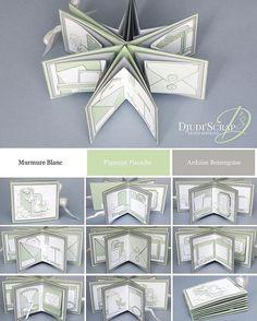 Mini album en étoile... #djudiscrap #stampinup #scrap #scrapbooking #minialbum