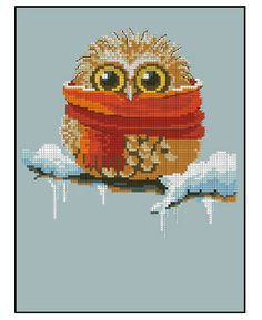 Hight Quality hot sell stitchcraft sets cross stitch Owl in the snow
