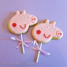 Peppa Pig cookies on a stick, very cute