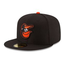 Men s Baltimore Orioles New Era Black Game Diamond Era 59FIFTY Fitted Hat 1f40a850c1dd