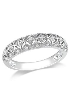 9de43cf5dec9 0.1 CT Diamond Fashion Ring In 10k White Gold  fashionring Reloj