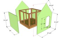 This step by step woodworking project is about insulated dog house plans free. Building a dog house with insulation will protect your pet from cold during the winter. Exterior Stain, Exterior Wall Light, House Paint Exterior, Dog House Plans Insulated, Outside Dog Houses, Woodworking Plans, Woodworking Projects, Build A Dog House, Wooden Playhouse