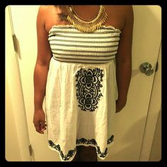 Black and White Halter Top Sassy black and white halter top. Excellent condition. Tops